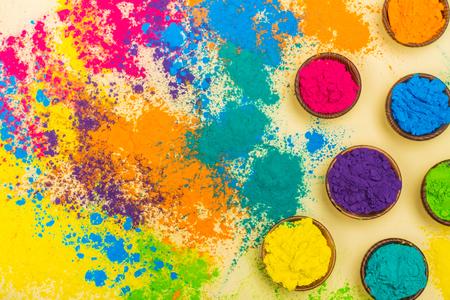 Colorful Indian powder paints