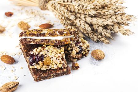 Homemade granola cereal bars