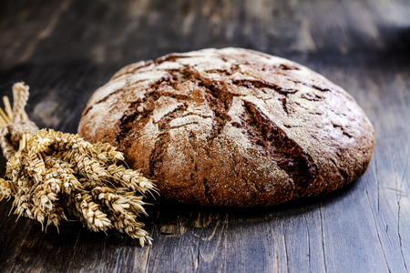 Fresh round sourdough bread