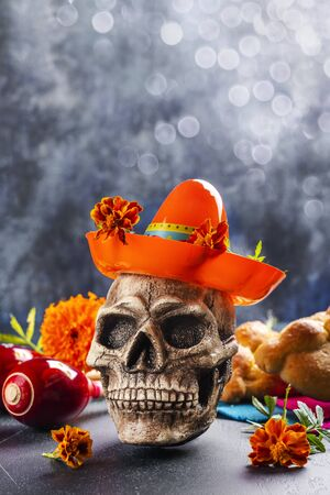 Mexican day of the dead background Foto de archivo