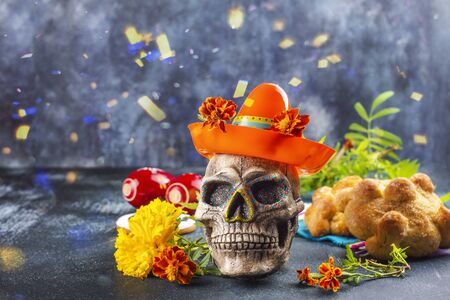 Mexican day of the dead background 免版税图像