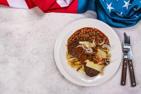 Garbage plate dish