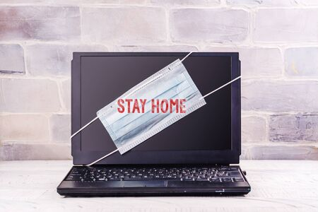 Stay at home background Stock Photo