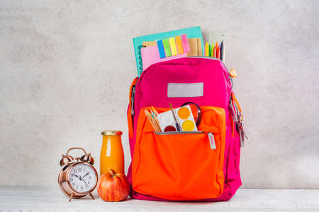 Back pack with school utensils