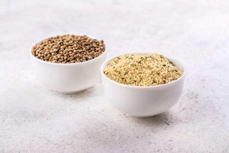 Organic hemp seeds 免版税图像 - 164172874