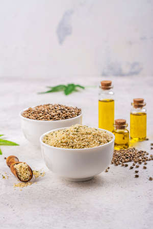 Organic hemp seeds and oil