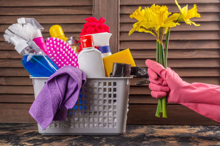 Spring cleaning background