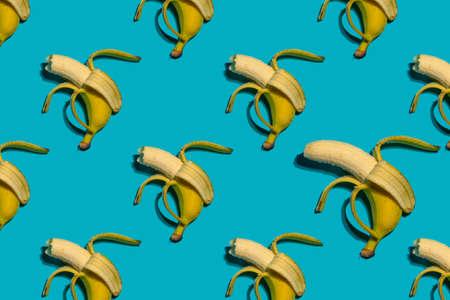 Colorful seamless bananas pattern