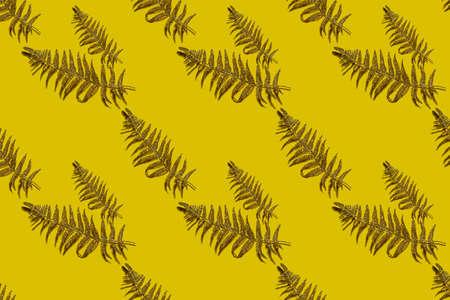 Seamless palm tree leaf pattern Archivio Fotografico