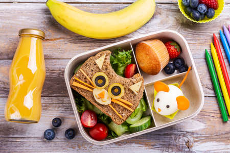 Back to school breakfast background