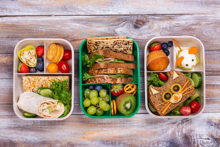 Healthy school lunch boxes