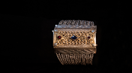 Argent antique tissage ottoman Banque d'images - 97100725