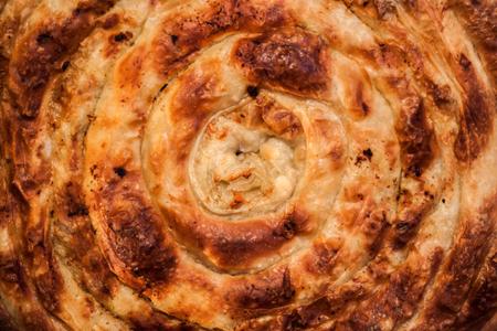 Traditional Bosnian Turkish dish, pork pie, pie in the pan