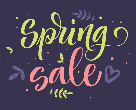 Spring sale colorful calligraphy