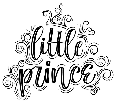 Little prince. Hand drawn creative modern calligraphy Illustration