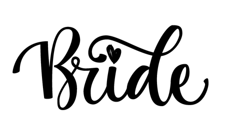 Bride Squad Party gold sparkle calligraphy text - Bride - simple hand write isolated calligraphy. Color design for card, poster, t-shirt prints.