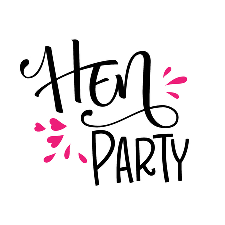 HenParty modern calligraphy and lettering for cards, prints, t-shirt design