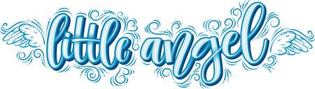 Welcome Baby napis napis na białym tle. Kaligrafia baby shower na zaproszenie lub kartkę z życzeniami. Ilustracja wektorowa. Nowoczesna kaligrafia pędzla.
