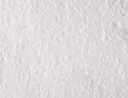 styrene: White foam plastic texture