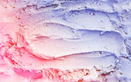 Top view of vanilla ice cream texture toned in trendy duotone Stock Photo
