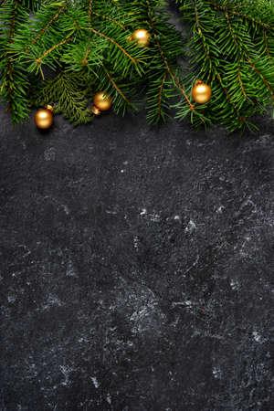 Christmas or New Year decoration dark background