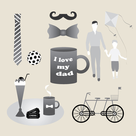 aciculum: set of objects constituting holiday fathers, men, gentlemen