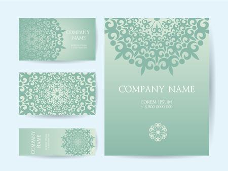 card design: Set of business cards Illustration