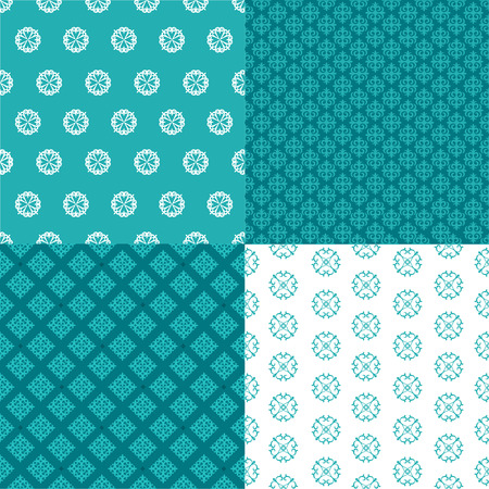 set of four seamless patterns. Kazakh, Asian, floral, floral pattern. Decorative background for greeting cards, invitations, web design. Vector