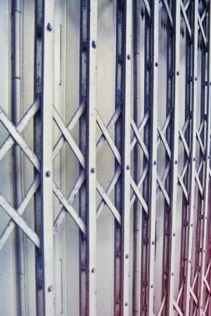 iron curtains: Steel background  Stock Photo