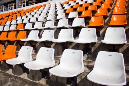football pitch: Empty stadium seat
