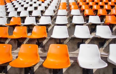 spectator: Empty stadium seat
