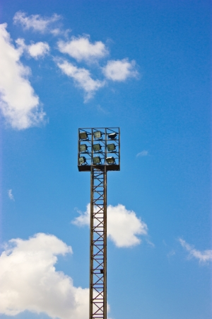 Lighting tower of stadium stading in blue sky Stock Photo - 16396020