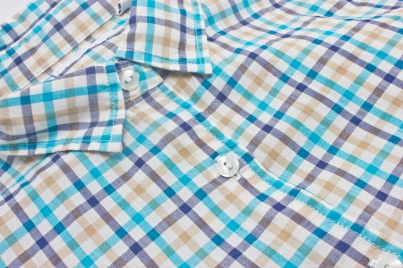 Woman s checked shirt close up   photo