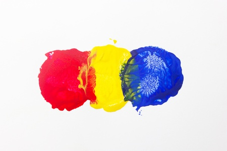 Three spots of primary color isolate on white background  Stock Photo - 16396526