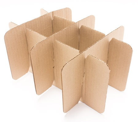 Stack of cardboard paper isolated on white background  photo