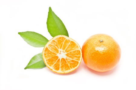 Orange fruit isolated on white background  photo