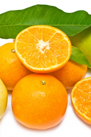 Oranges collection isolated on white background  photo