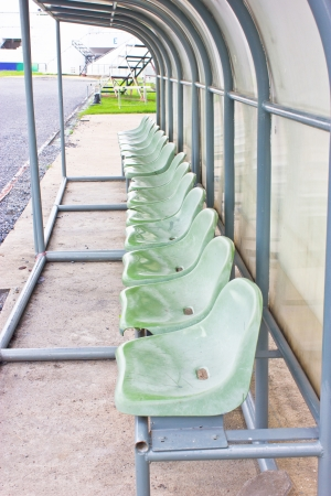 Coach and reserve benches in football stadium  Stock Photo - 17312577