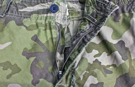 unzip: Unzip military trousers  Stock Photo