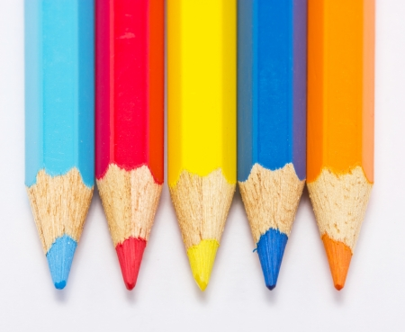 tip up: Color pencils five pieces in a roll