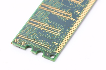 dimm: Ram memory isolated on white background