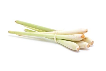 Bundle of lemongrass isolated on white background  photo