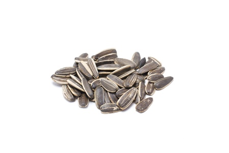 Sunflower seeds on white background  photo