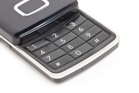 Close up of mobile phone keyboard  photo