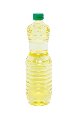 vinegar bottle: Plastic bottle of sunflower oil