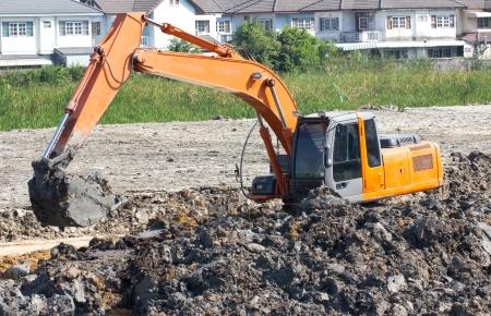 Tractor shovel working in progress. Stock Photo - 20468262