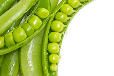 green peas: Green peas with copy space. Stock Photo