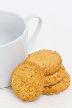 Cookie with coffee cup. photo