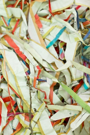 Shredded paper background. photo