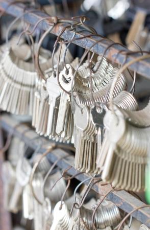 Many bunches of new keys. photo